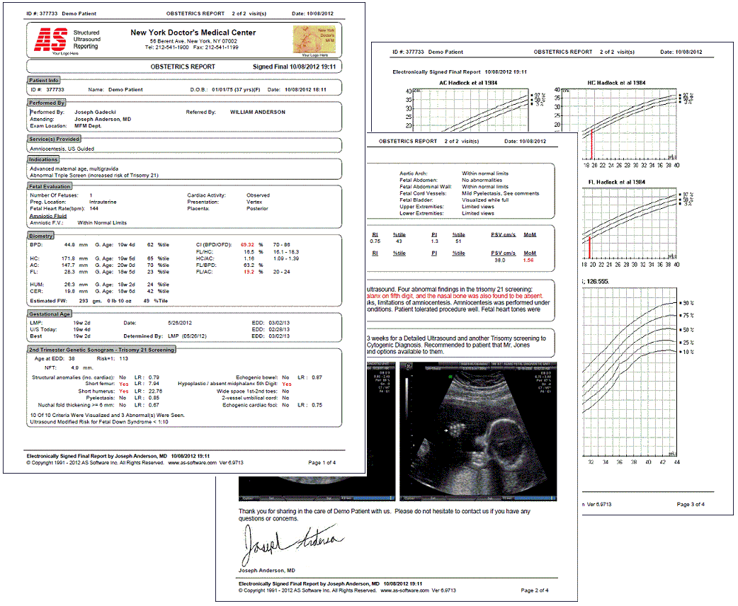 As Software Inc As Obgyn Structured Ultrasound Reporting For Ob